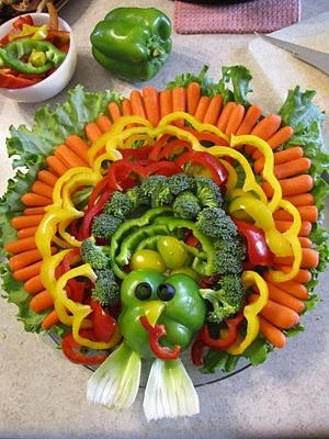 Thanksgiving Veggie Tray Holidays Pinterest