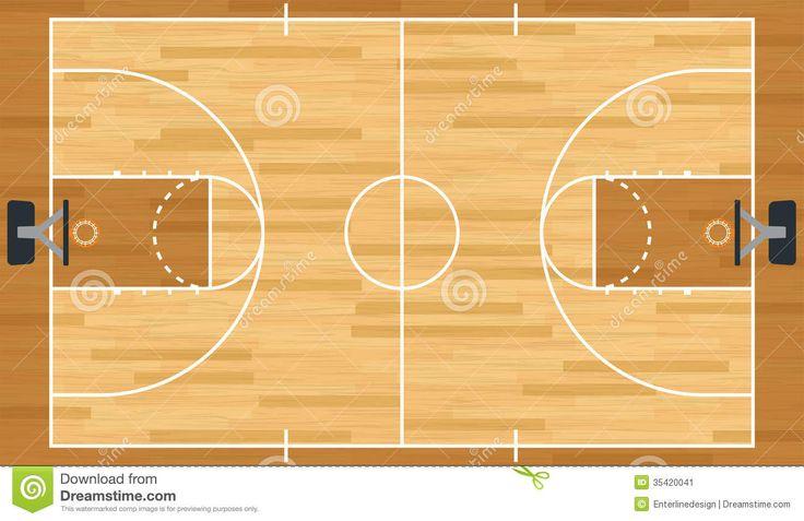 basketball court layout 3d