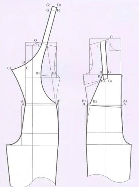 Выкройка шорты комбинезон джинсовый