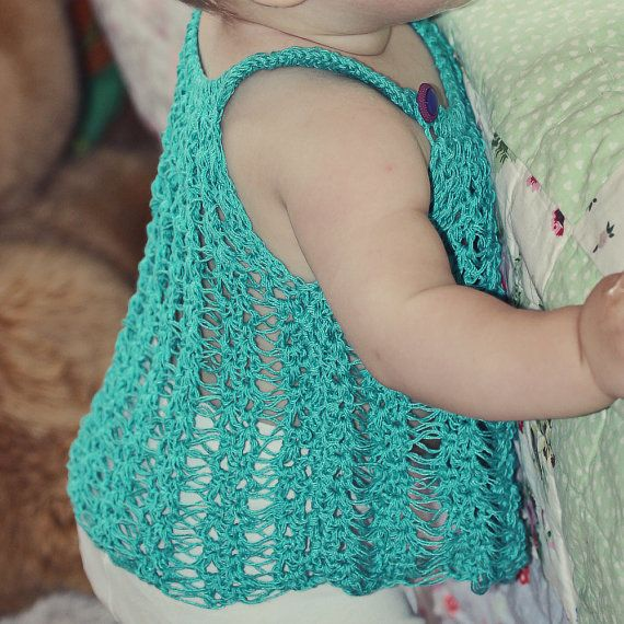 Crochet PATTERN pdf file Halter Top for baby von monpetitviolon, $4,99