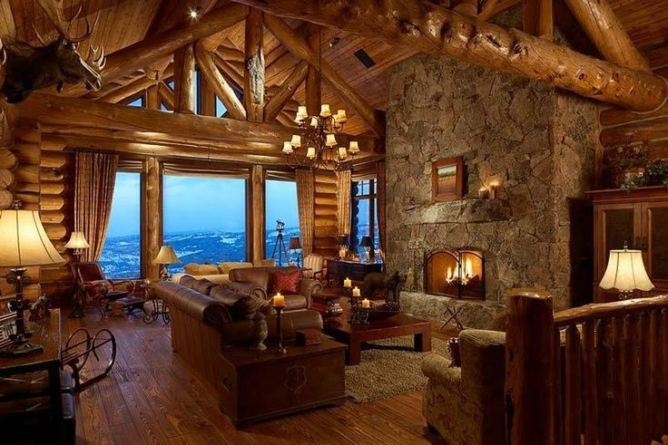 interior log cabin quot little quot cabin in the woods pinterest