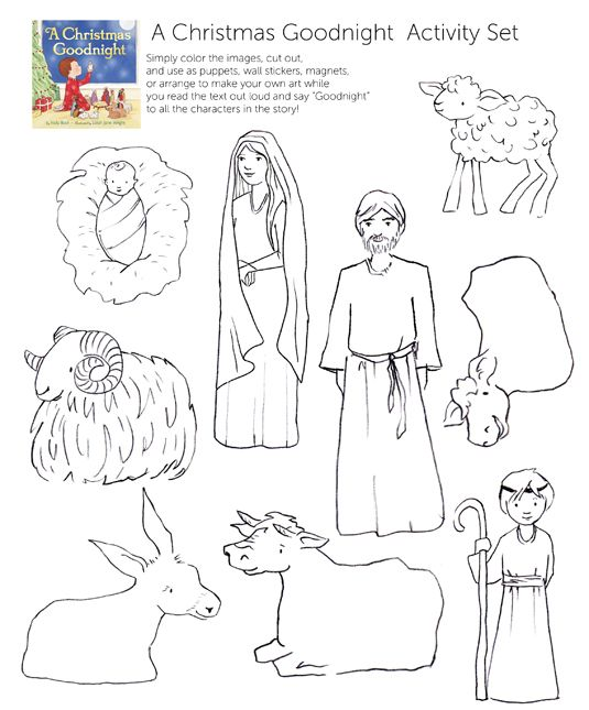 Nativity Scene Cutouts For Coloring Coloring Pages Nativity Colouring Pages
