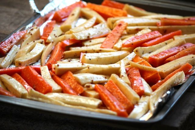 Maple Roasted Carrots And Parsnips Recipe — Dishmaps