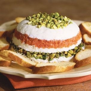 mascarpone and goat cheese torta with smoked salmon splendorthought