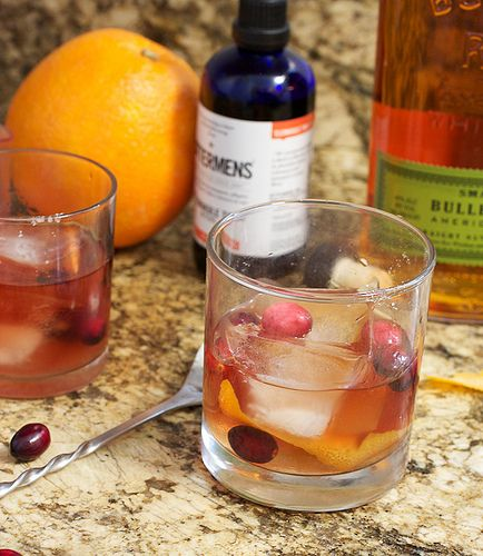 Cranberry Old Fashioned | The Girl in the Little Red Kitchen