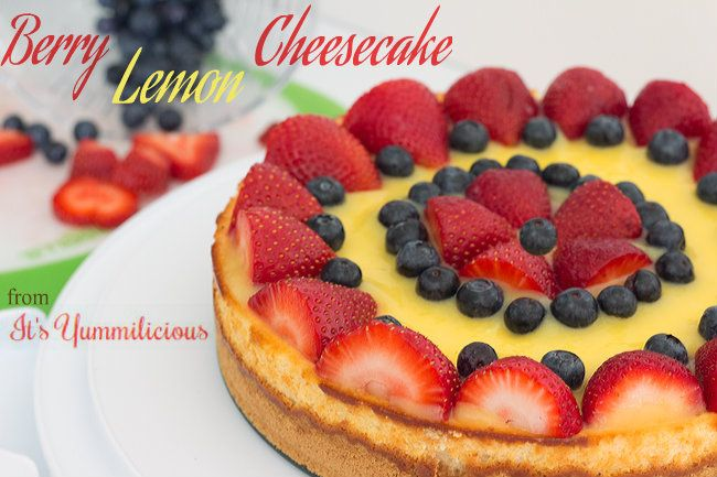 ... cheesecake topped with fresh lemon curd and assorted summer berries