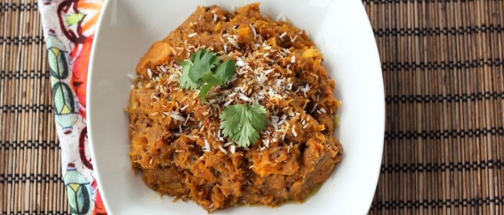 Indian-Spiced Butternut Squash With Toasted Coconut (Gluten-Free + Ve ...
