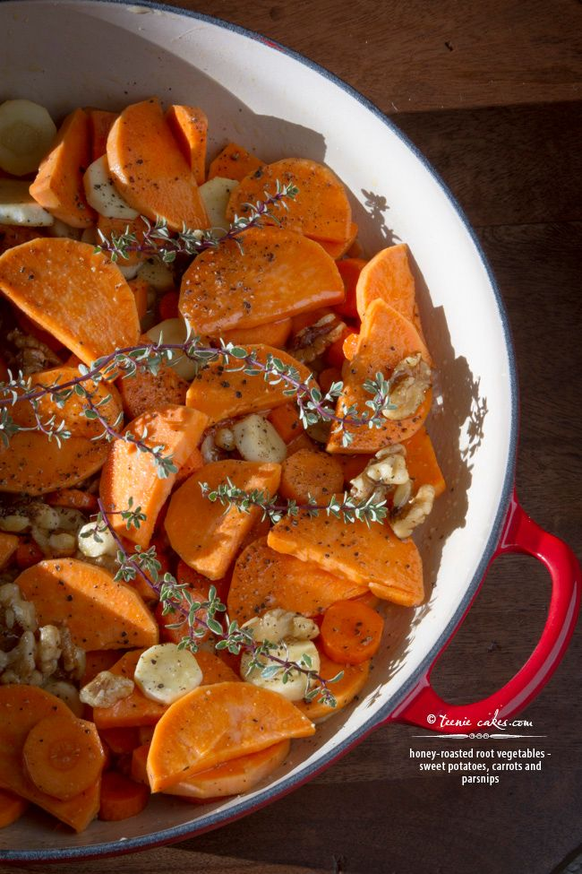 Honey Roasted Root Vegetables recipe | TeenieCakes.com - an easy and ...