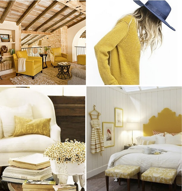 mustard yellow inspiration board