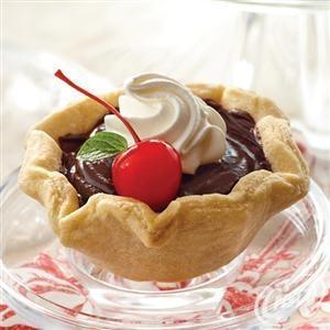 Double #Chocolate #Mini #Tarts #Dessert #Recipe | Courtesy of; Crisco