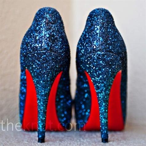 Navy Blue Bride Shoes