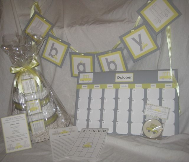 yellow and gray car baby shower baby shower party ideas