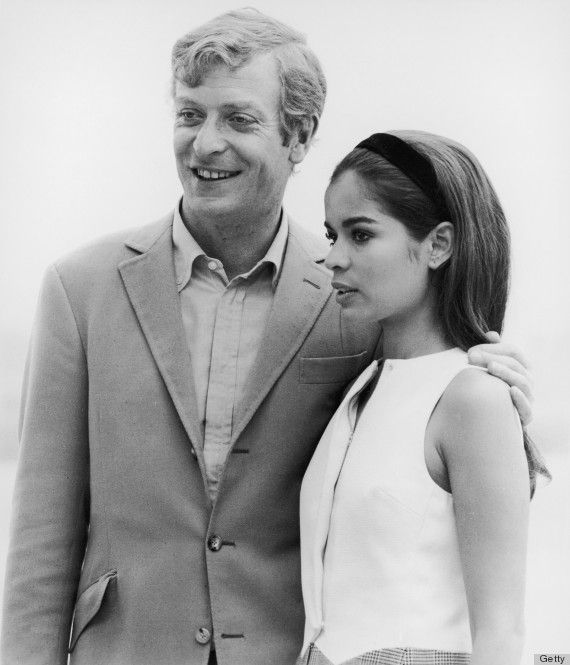 English Actor Michael Caine With Model Bianca Jagger On