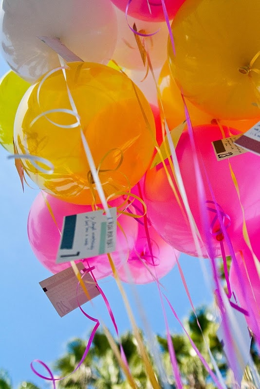 Birthday Wishes With Balloons : Balloons with birthday wishes attached  Magic balloons  Pinterest