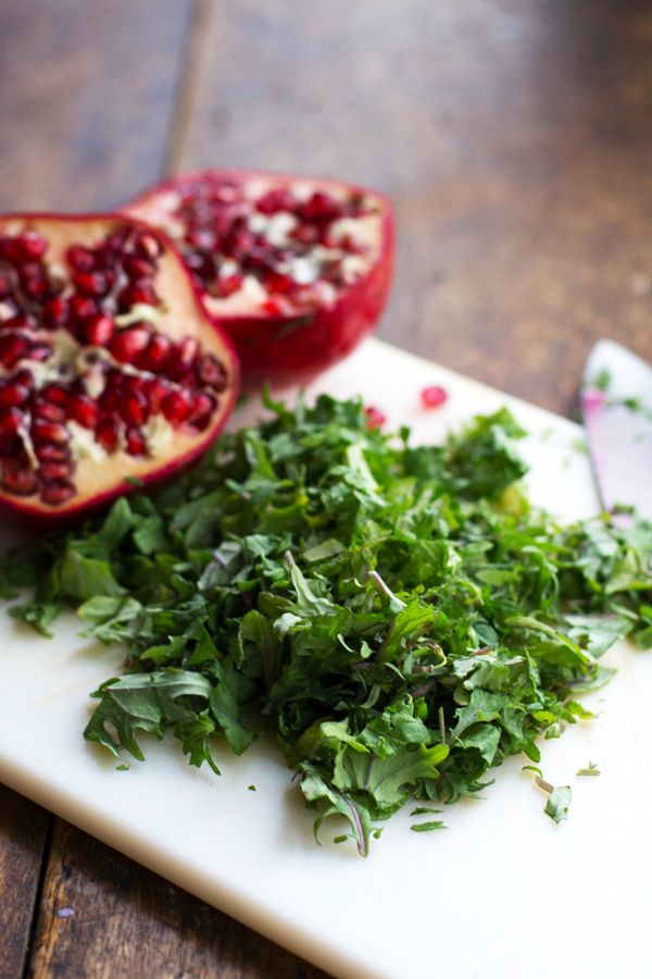 Pomegranate, Kale, and Wild Rice Salad with Walnuts and Feta - Pinch ...