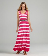 A goregous striped dye dress from Calvin Klein.
