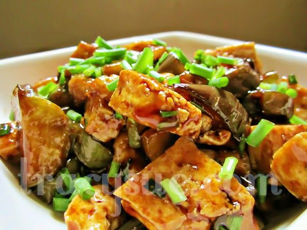 Sweet & Spicy Tofu and Eggplant stir-fry | Food/Recipes | Pinterest