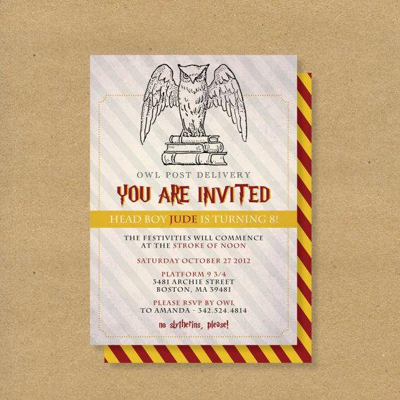 Printable Birthday Invitation // HARRY POTTER WIZARD theme