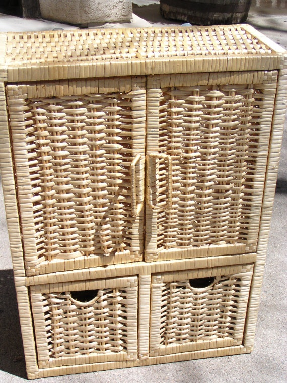 vintage cute sturdy wicker medicine cabinet by jessicamknoshaug 48