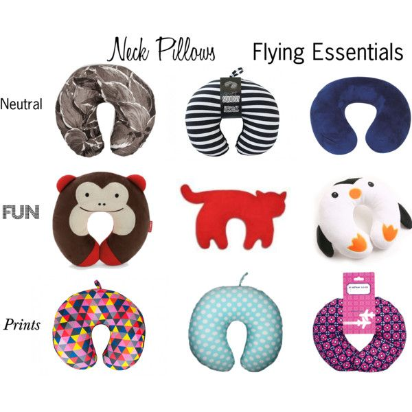 """Neck Pillows - Flying Essentials"" by beavercity on Polyvore"