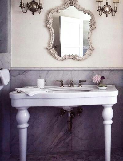 Pedestal sink shabby chic pinterest - Shabby chic bathroom sink ...