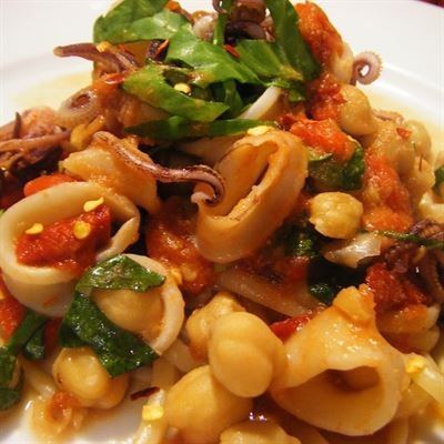 Spicy Basil Calamari :With bell peppers, onions, carrots, chili ...
