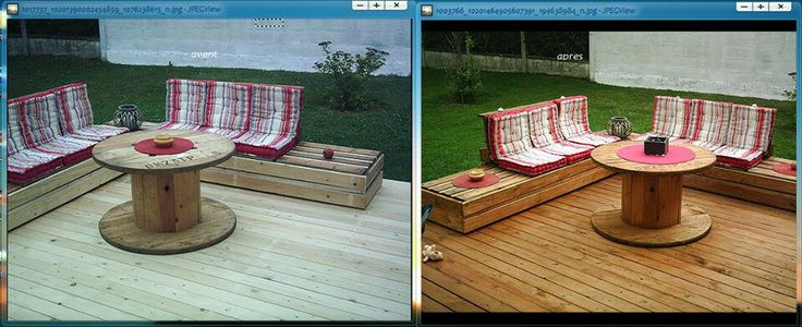 Salon de jardin recup palettes pour candice pinterest - Salon de jardin palettes ...