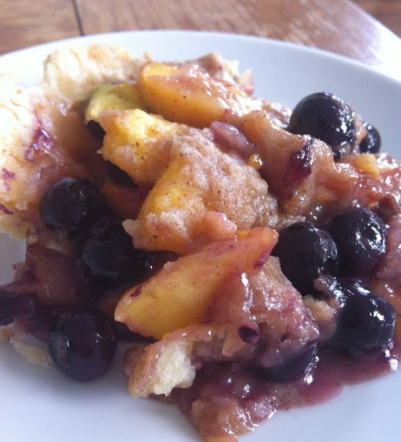 Blueberry Peach Cobbler Crisp | ~ Just Desserts ~ | Pinterest