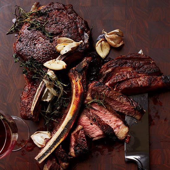 ... .com/recipes/butter-basted-rib-eye-steaks | Meat | Pinterest