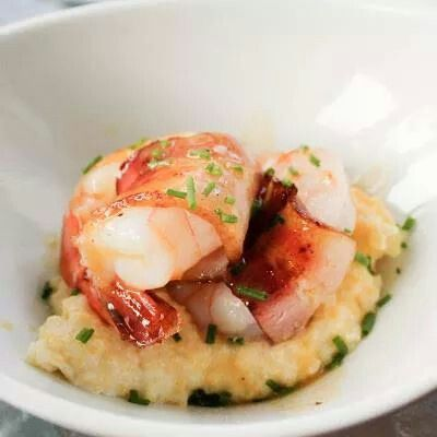 Shrimp,bacon,and cream cheese grits | Delicious things I want to eat ...