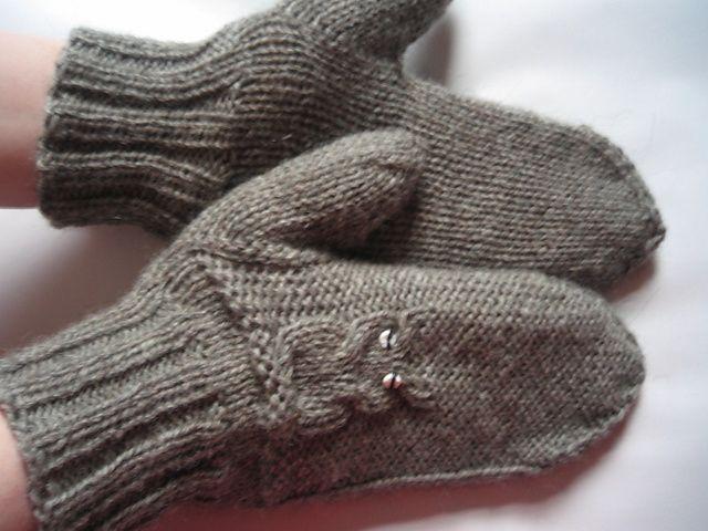 Owl mittens Stickat & virkat Pinterest