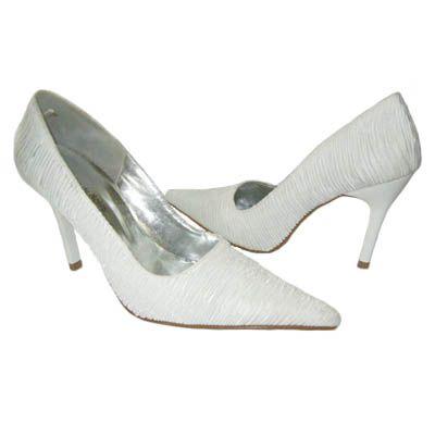 Scarpin Cetim Plisse 9cm - branco - - MLK0048 De: R$120,00 Por: R$90,00