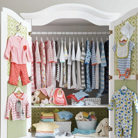 Closet of baby clothes oh baby pinterest