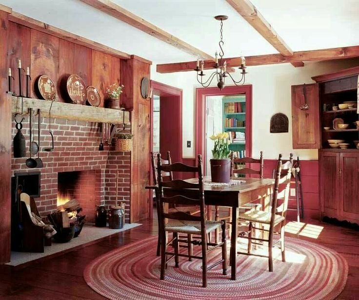 Colonial Keeping Room Interiors Pinterest