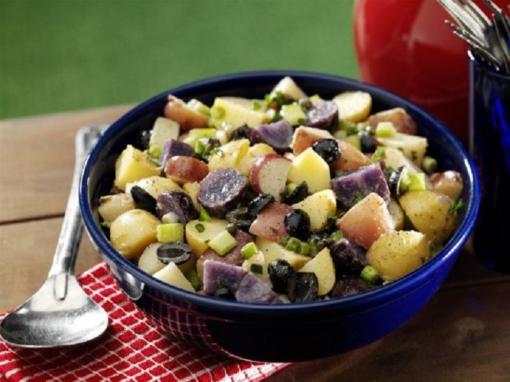 Red, White and Blue Potato Salad | Celebrate Patriotic Holidays | Pin ...