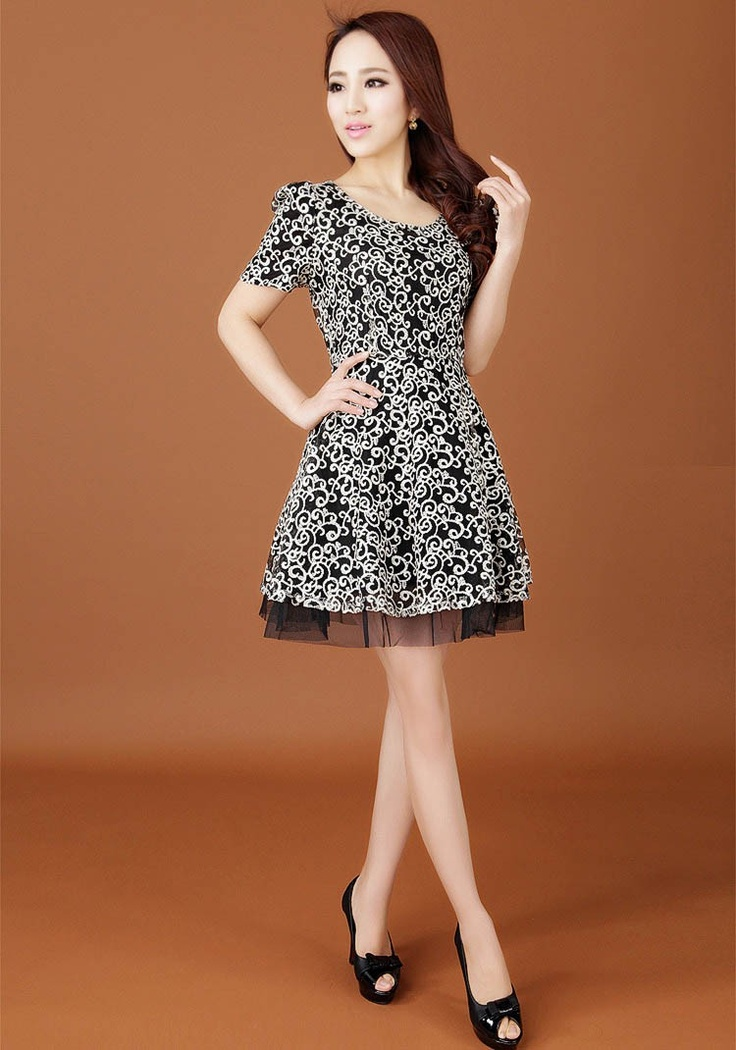 Galerry lace dress korean