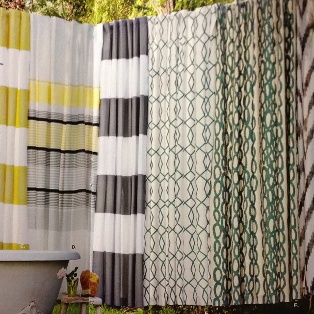 west elm gray and white striped shower curtain