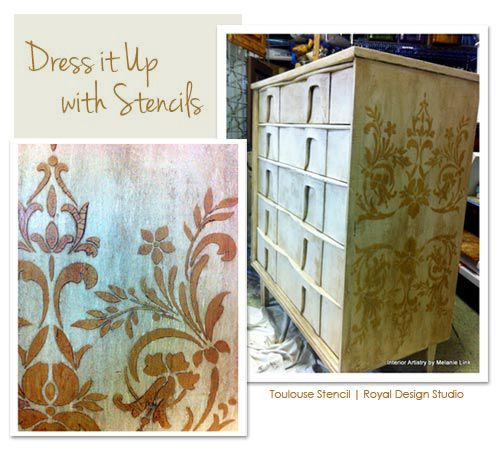 Pin by royal design studio stencils on furniture painting - Paint stencils for furniture ...