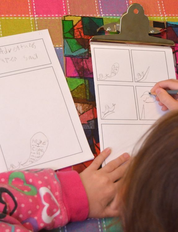 Kids Art Activity:  Free Printable Blank Comic Pages For Kids to fill out with their stories and artwork