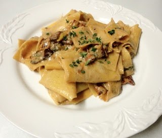 Creamy Pappardelle With Leeks And Bacon Recipe — Dishmaps