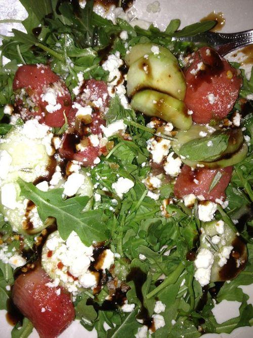 arugula watermelon and feta salad | Food | Pinterest