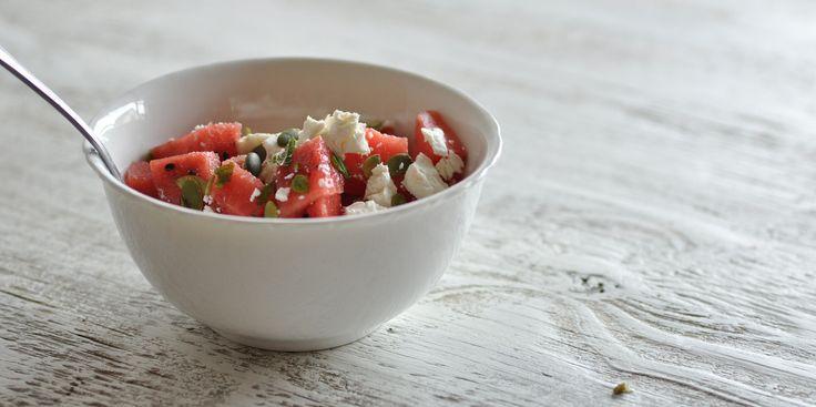 watermelon amp feta salad with mint