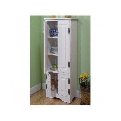 Tall Kitchen Cabinet Cupboard Wood Vertical Storage Pantry Furniture