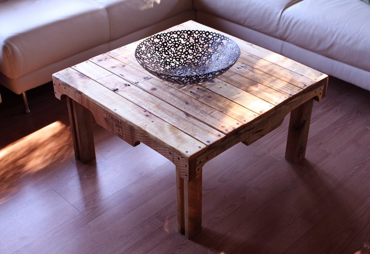 Pallet rustic coffee table things made out of pallets for Coffee table made out of pallet wood