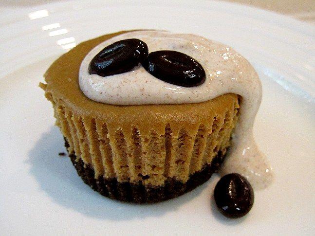 Espresso Cheese Cupcakes with Spiced Cream | Recipe