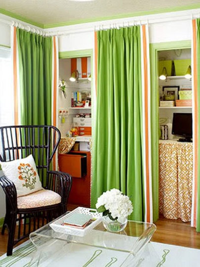 Curtains to Hide Clothing Closet?