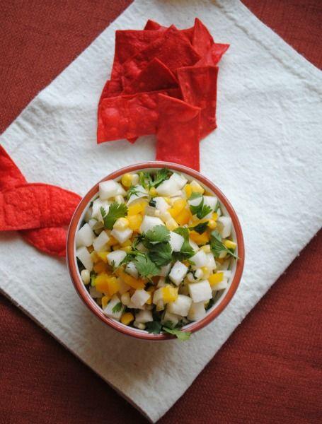 jicama - corn salsa 001~1 I love jicama alone but will make this for ...