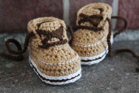 Crochet Baby Baseball Boots Pattern : Baby Boys Boots PDF Crochet Pattern