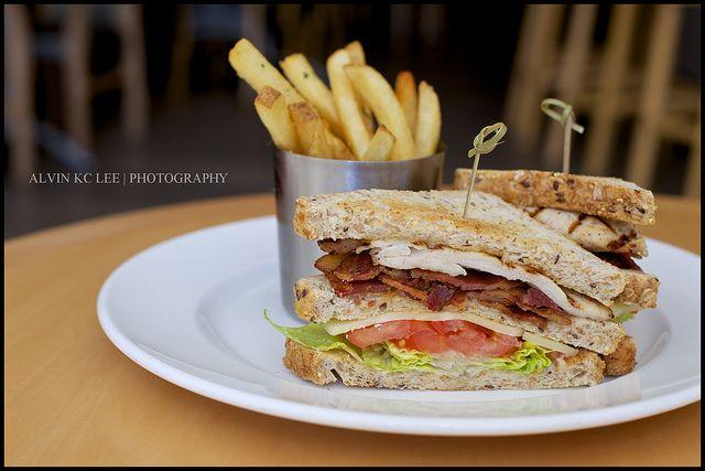 sun dried tomato and bacon club sandwich classic club sandwich at ...
