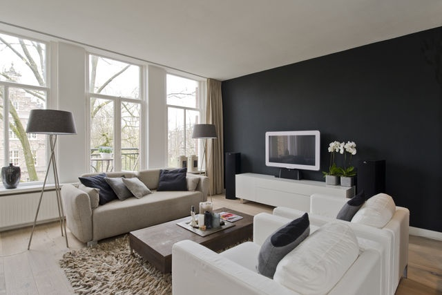 Woonkamer muurverf beige - Kleur verf moderne woonkamer ...